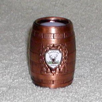 "Bronze Barrel Shotglass - ""Paradise, Michigan"" - Advertising"