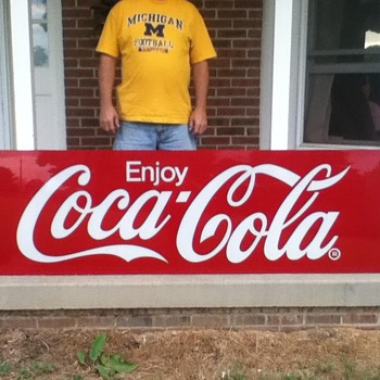 Large Coke Sign 90&quot; x 27&quot; - Coca-Cola