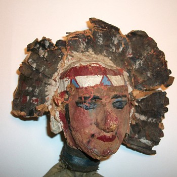 Antique American Indian Folk Art Puppet circa 1890 Collection Jim Linderman