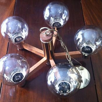 1970 hanging light fixture. - Lamps