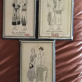4 Slate or stone Paris Fashion Plaques