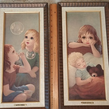 "Turner Wall Accessory Framed Prints ""Blowing Bubbles"" & ""Baby Sitter"""