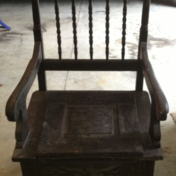 Just Found Antique 1800's Commode ?   - Furniture