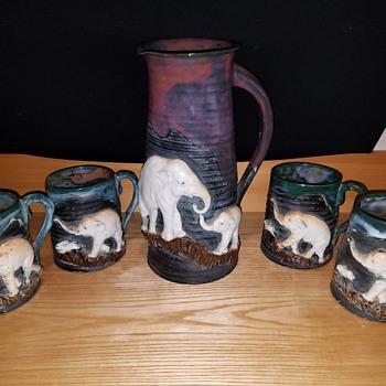 Japanese Sumida Porcelain  (Elephants and Rabbits)