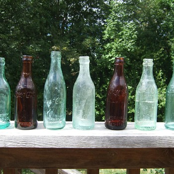 My staright sided coca cola bottle collection circa 1906-1917 - Coca-Cola