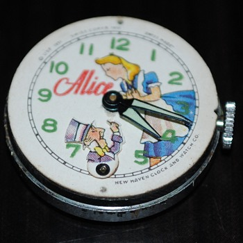 1951-55 New Haven Alice and Mad Hatter Watch - Wristwatches