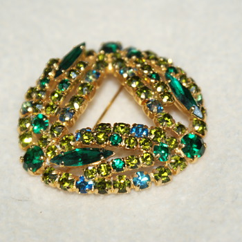 Just for Fun:  Custom Pin with Sparkling Rhinestones - Costume Jewelry