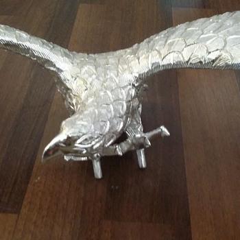 Vintage aluminum eagle finial or statue