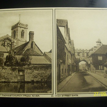 vintage postcards salisbury st. thomas church