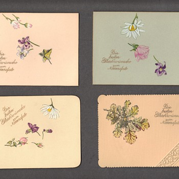 Embossed german greeting cards