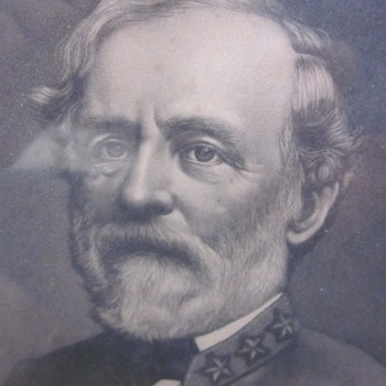 19th Century Engraving of Robert E. Lee
