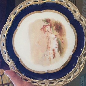 Hand painted dish - China and Dinnerware