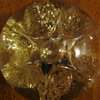 Gold flakes paperweight