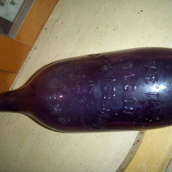 THIS IS A OLD BOTTLE I FOUND  phenix nerve beverage - Bottles