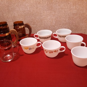 pyrex Assorted cups from Rescue Project (siestaware also)