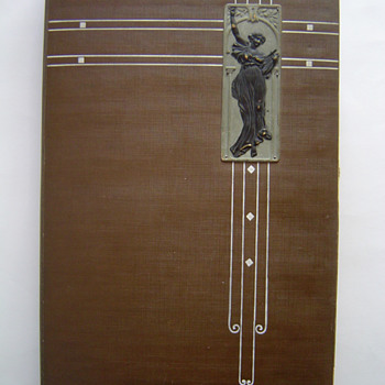 Jugendstil Postcard Album, containing embossed Christmas Postcards