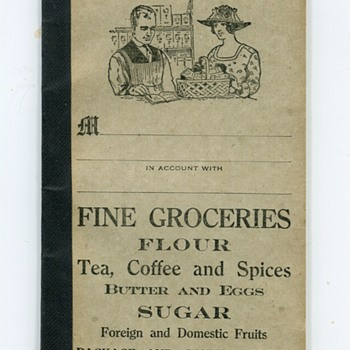 1900s Grocery Account Book