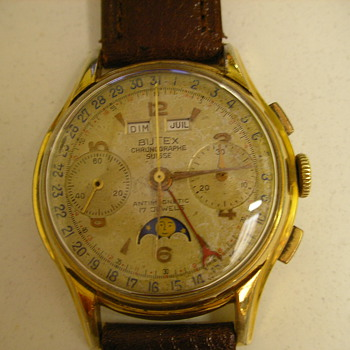 1953 Butex Calendar Chronograph Wristwatch - Wristwatches