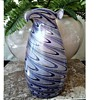 "Art Glass Vase/ 10 ""Aurine Style Design /Unknown Maker and Age"