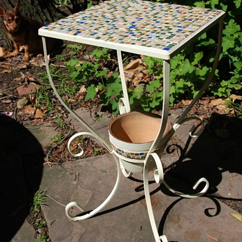 tile tables i made with flea market finds