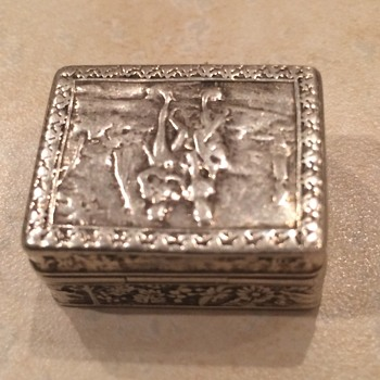 Small 800 Silver Pill Box - Sterling Silver
