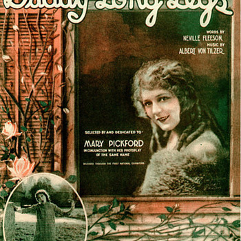 """HAPPY FATHERS DAY """"DADDY LONG LEGS""""  MARY PICKFORD SHEET MUSIC"""