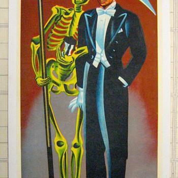 "Original 1959 ""Profesor Alba"" Stone Lithograph Poster"