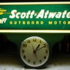 Scott Atwater Outboard Motor Vintage Clock 1952