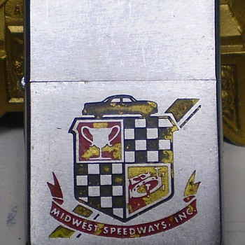 1960 Midwest Speedways, Inc. Vintage Zippo - Tobacciana