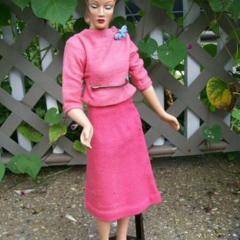 Hauty 1940's Mannequin doll as found and repaired