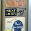 Free Lunch Next Door Pabst Blue Ribbon Beer Wood Sign