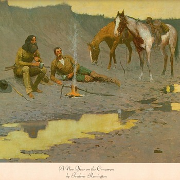 "Frederic Remington print - ""New Year on the Cimarron"" - Visual Art"