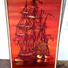Large Vintage Ship painting
