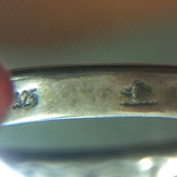 Silver Ring with Mystery Mark - Sterling Silver
