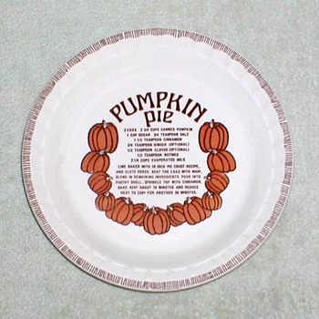 "Royal China ""Country Harvest"" Pumpkin Pie Dish"