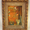 Original Potty Humor; Clown Taking a Whiz in a Fish Bowl by George Crionas