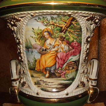 Antique Signed Handpainted Lamp, Not sure of Makers Name Need Help!! - Lamps