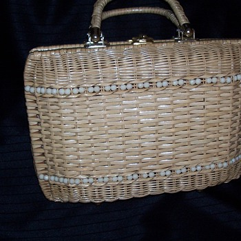 briefcase style straw bag
