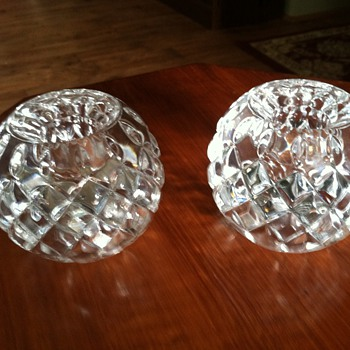 Royal Limited Crystal Candle Holders - Glassware