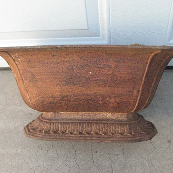 Victorian era pot or planter appears to be cast iron? - Victorian Era