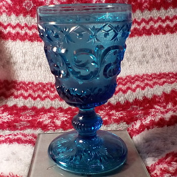 Small Blue Glass Goblets - Glassware