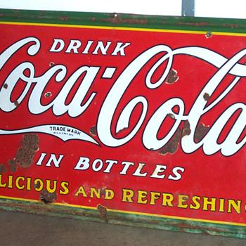 1930s Coca Cola sign 5'x3' - Coca-Cola