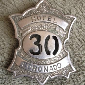 Vintage Hotel Del Coronado Employee Badge