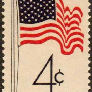 "1960 - ""U.S. Flag Issue"" Postage Stamp (US) - Stamps"