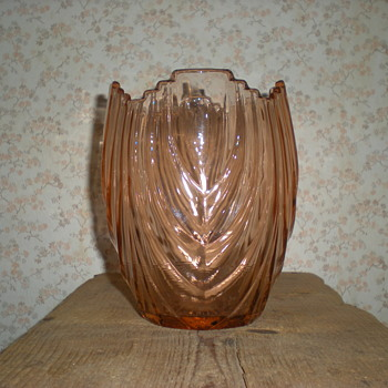 Bulgarian Art Deco large vase. - Art Glass