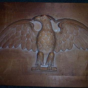 HAND CARVED EAGLE WOODEN MOLD - Folk Art