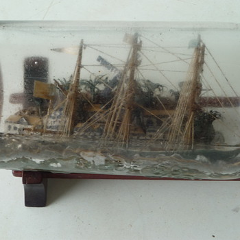 SHIP IN A BOTTLE-antique