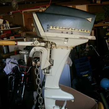 Scott-Atwater 1957 Twin Outboard - Outdoor Sports