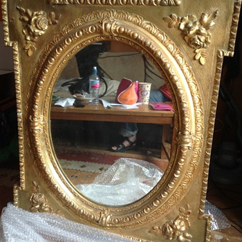 Wood gesso mirror c.1860s