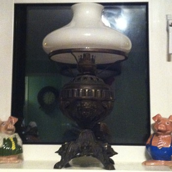 I've had this a few years. I would be interested to find out about it.its very ornate    - Lamps